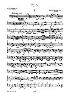 Фортепианное трио соль минор, T.64 Op.15: Партия виолончели by Бедржих Сметана