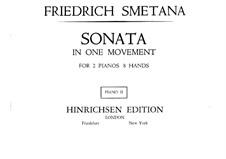 Соната для двух фортепиано в восемь рук ми минор, T.47: Партия II фортепиано by Бедржих Сметана
