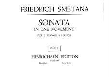 Соната для двух фортепиано в восемь рук ми минор, T.47: Партия I фортепиано by Бедржих Сметана