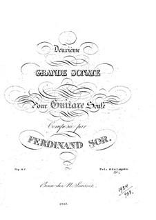 Большая соната для гитары, Op.25 No.2: Для одного исполнителя by Фернандо Сор