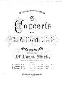 Кончерто гроссо No.5 ре мажор, HWV 323: Клавир by Георг Фридрих Гендель