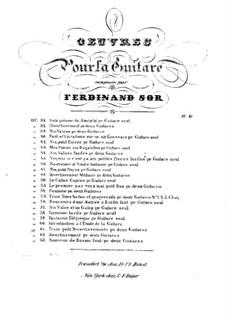 Три легких дуэта для двух гитар, Op.61: Сборник by Фернандо Сор