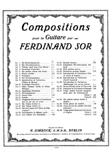 Соната до мажор, Op.15b: Для гитары by Фернандо Сор