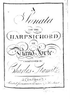 Соната для клавесина (или фортепиано): Соната для клавесина (или фортепиано) by Карл Стамиц