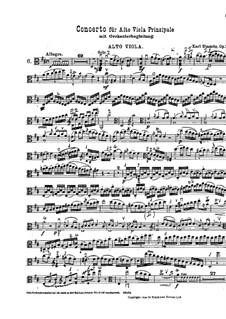 Концерт для альта с оркестром ре мажор, Op.1: Партия солирующего альта by Карл Стамиц