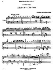 Концертный этюд No.3, Op.103: Концертный этюд No.3 by Константин Стернберг