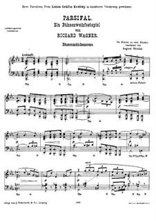 Парсифаль и Девушки-цветы: Для фортепиано by Рихард Вагнер