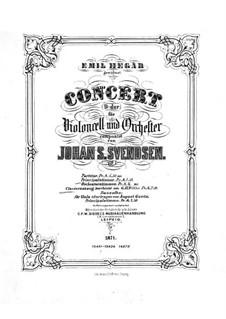 Концерт для виолончели с оркестром ми мажор, Op.7: Версия для виолончели и фортепиано by Юхан Свенсен