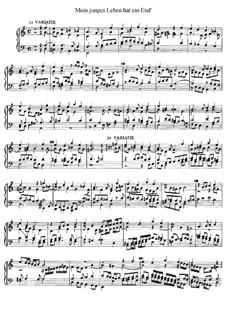 Mein junges Leben hat ein End', D.48: For organ by Ян Питерсзон Свелинк