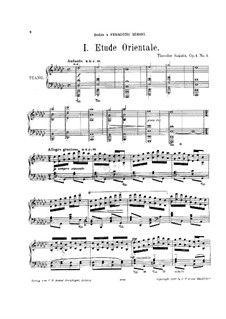 Два этюда, Op.1: Для фортепиано by Тивадар Санто