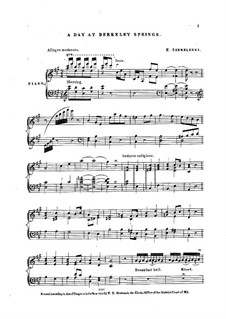 A Day at Berkely Springs, Op.27: A Day at Berkely Springs by Ernest Szemelényi