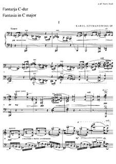 Фантазия для фортепиано, Op.14: Для одного исполнителя by Кароль Шимановский