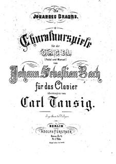 Избранные хоральные прелюдии: Для фортепиано by Иоганн Себастьян Бах