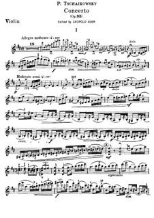 Концерт для скрипки с оркестром ре мажор, TH 59 Op.35: Сольная партия by Петр Чайковский