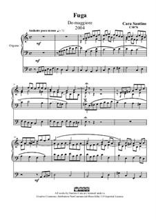 Fugue in c major for organ, CS076: Fugue in c major for organ by Santino Cara