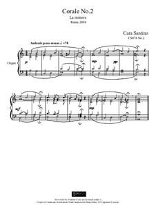 Choral in a minor for organ, CS078 No.2: Choral in a minor for organ by Santino Cara