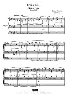 Choral in b major for organ, CS080 No.1: Choral in b major for organ by Santino Cara