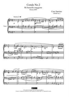 Choral in e flat major for organ, CS080 No.2: Choral in e flat major for organ by Santino Cara