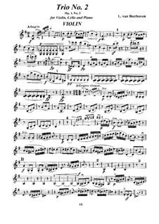 Три фортепианных трио, Op.1: Трио No.2 – партии by Людвиг ван Бетховен