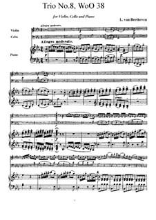 Трио для скрипки, виолончели и фортепиано No.8, WoO 38: Трио для скрипки, виолончели и фортепиано No.8 by Людвиг ван Бетховен