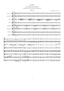 Октет для духовых инструментов ми-бемоль мажор для духовых инструментов, Op.103: Партитура by Людвиг ван Бетховен