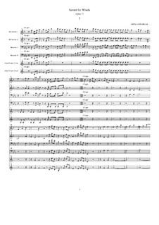 Секстет для духовых инструментов ми мажор, Op.71: Партитура by Людвиг ван Бетховен