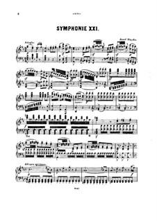 Симфония No.86 ре мажор, Hob.I/86: Версия для фортепиано by Йозеф Гайдн