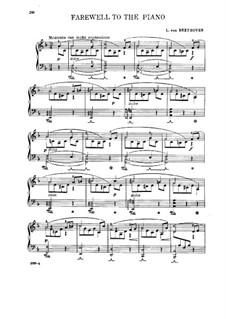 Прощание с фортепиано: Для одного исполнителя by Людвиг ван Бетховен