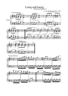 Lustig-Traurig (Happy-Sad), WoO 54: Для фортепиано (ноты высокого качества) by Людвиг ван Бетховен