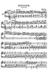 Соната для фортепиано No.17 'Буря', Op.31 No.2: Для одного исполнителя (с аппликатурой) by Людвиг ван Бетховен