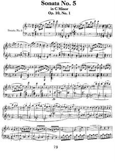 Соната для фортепиано No.5, Op.10 No.1: Для одного исполнителя by Людвиг ван Бетховен