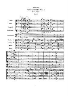 Концерт для фортепиано с оркестром No.2, Op.19: Партитура by Людвиг ван Бетховен