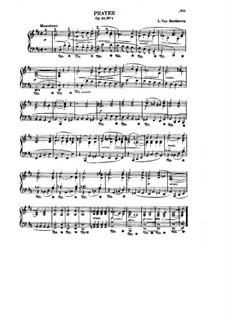 Шесть песен на стихи Геллера, Op.48: No.1 Prayer by Людвиг ван Бетховен