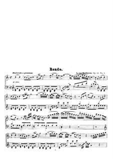 Два рондо для фортепиано, Op.51: Рондо No.1 by Людвиг ван Бетховен