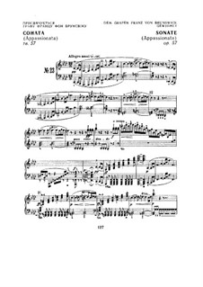 Соната для фортепиано No.23 'Аппассионата', Op.57: Часть I by Людвиг ван Бетховен