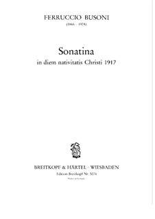 Сонатина для фортепиано No.4, BV 274: Для одного исполнителя by Ферруччо Бузони