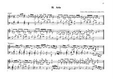 Ария с вариациями для органа: Ария с вариациями для органа by Johann Heinrich Buttstett