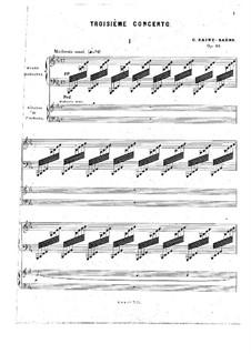 Концерт для фортепиано с оркестром No.3 ми-бемоль мажор, Op.29: Версия для двух фортепиано в четыре руки by Камиль Сен-Санс