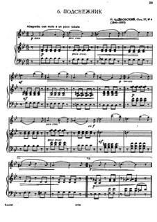 No.4 Апрель (Подснежник): Для флейты и фортепиано by Петр Чайковский