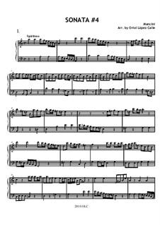 Sonata No.4 (easy piano): Соната No.4 (easy piano) by Франческо Манчини