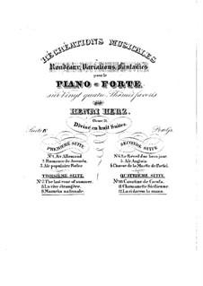 Récréations Musicales, Op.71: Сюита No.4, Рондо, вариации, фантазии by Анри Герц