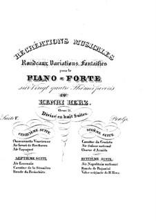 Récréations Musicales, Op.71: Сюита No.5, Рондо, вариации, фантазии by Анри Герц
