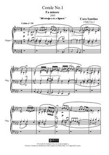 Choral in f minor for organ, CS082 No.1: Choral in f minor for organ by Santino Cara