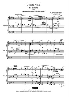 Choral in f minor for organ, CS082 No.2: Choral in f minor for organ by Santino Cara