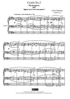 Choral in e major for organ, CS084 No.2: Choral in e major for organ by Santino Cara