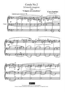 Choral in b flat major for organ, CS097 No.2: Choral in b flat major for organ by Santino Cara