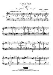 Choral in b major for organ, CS087 No.2: Choral in b major for organ by Santino Cara