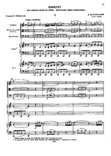 Квинтет для скрипки, виолы да гамба, виолончели, арфы и фортепиано: Квинтет для скрипки, виолы да гамба, виолончели, арфы и фортепиано by Дмитрий Бортнянский