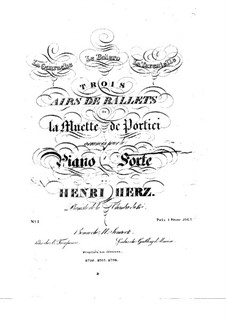 Trois airs de ballets from 'La Muette de Portici' by Auber, Op.5: No.1 La Guarache by Анри Герц