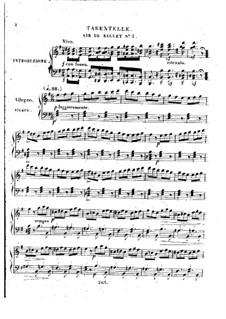 Trois airs de ballets from 'La Muette de Portici' by Auber, Op.5: No.3 Тарантелла by Анри Герц